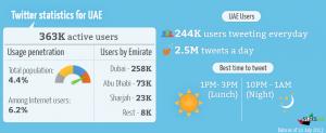 UAE twitter stats